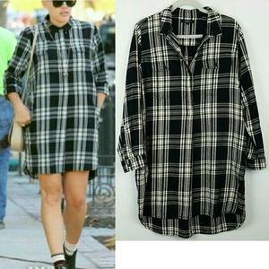 Madewell Daywalk Glendale Plaid Flannel Shirtdress
